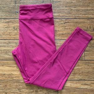 Dark Pink Magenta Leggings